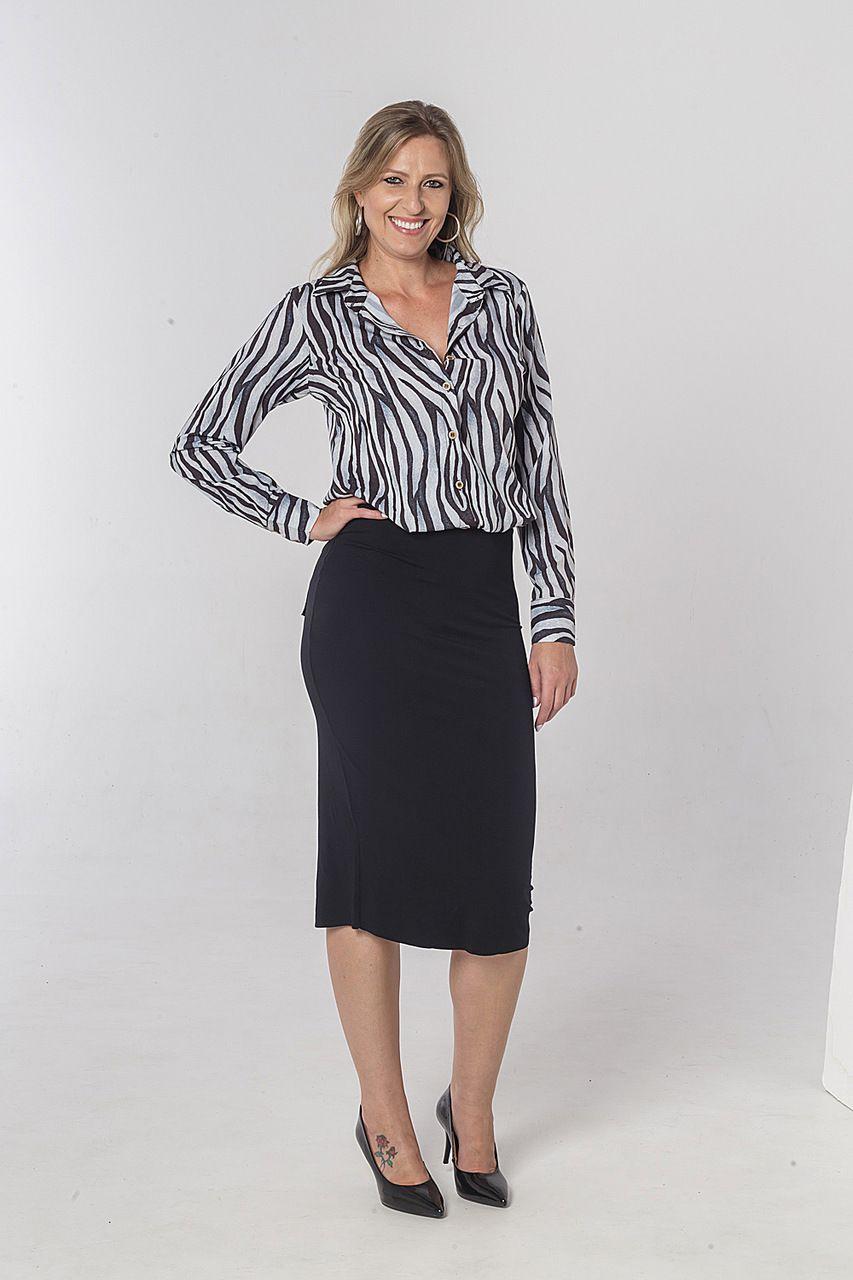 Camisa Estampa Zebra