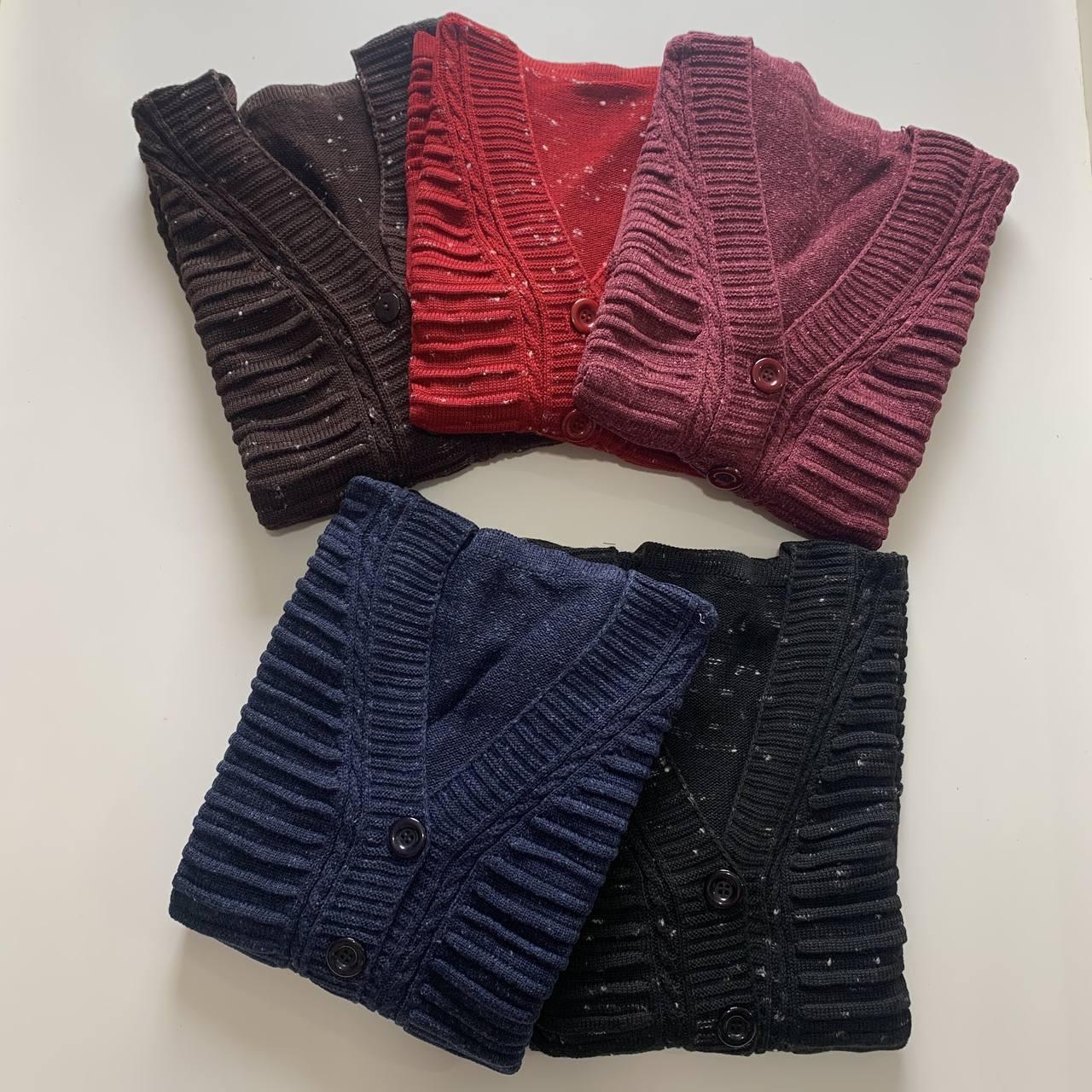 Casaco de tricô camadas