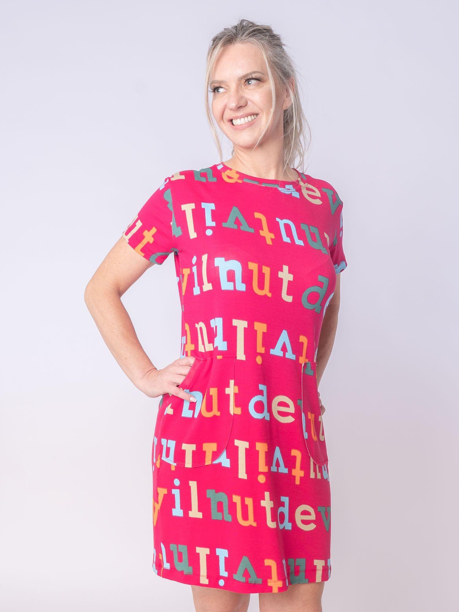 Vestido Bolso Letras