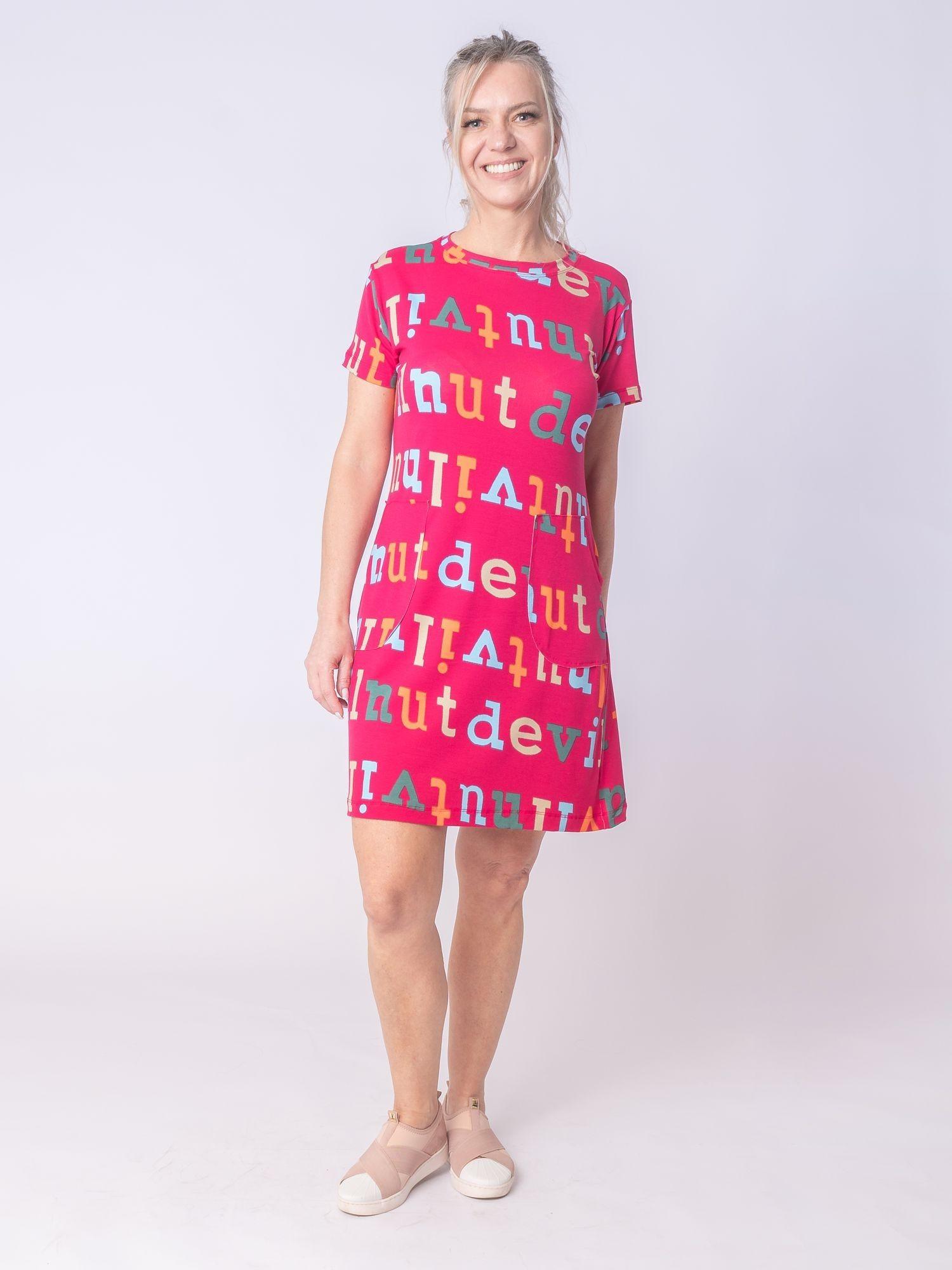 Vestido Bolso Letras (4742)