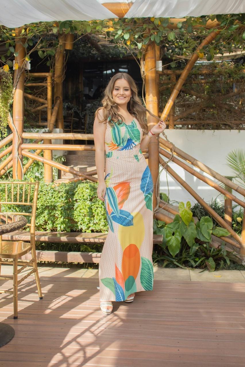 Vestido Longo com Fenda (28622)