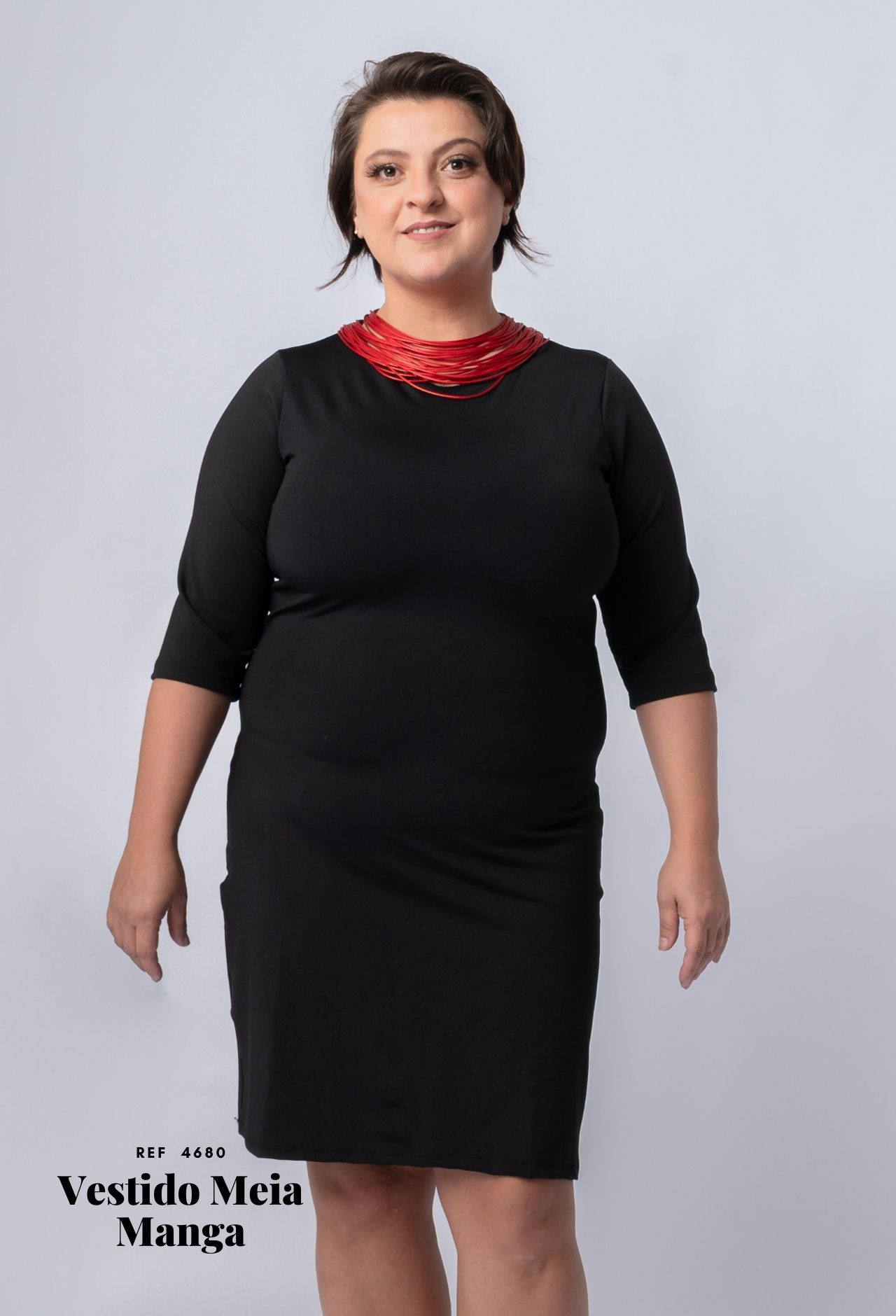 Vestido Meia Manga (4680)