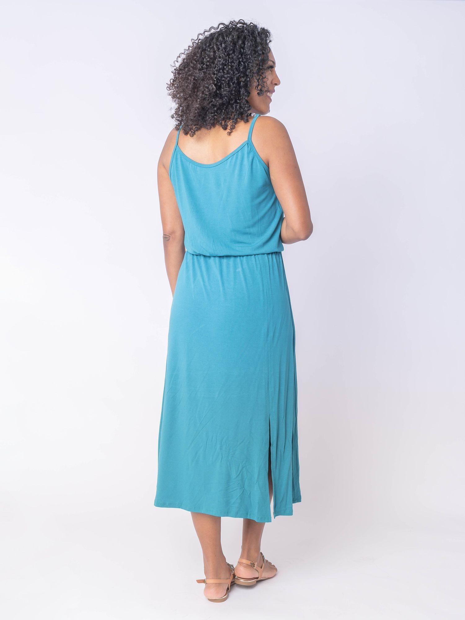 Vestido Midi com Alça