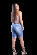 Bermuda Jeans Elastano Feminina Pedal