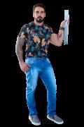Calça Jeans Masculina Slim Fit