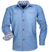 Camisa Infantil Alfa 1508 Jeans Longa