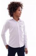 Camisa Infantil Branca Casamento Batismo Crisma Formatura