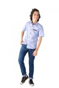 Camisa Infantil Manga Curta Estampada