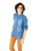 Camisa Masculina Infantil Jeans