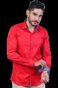 Camisa Social Pienza Luxo Algodão