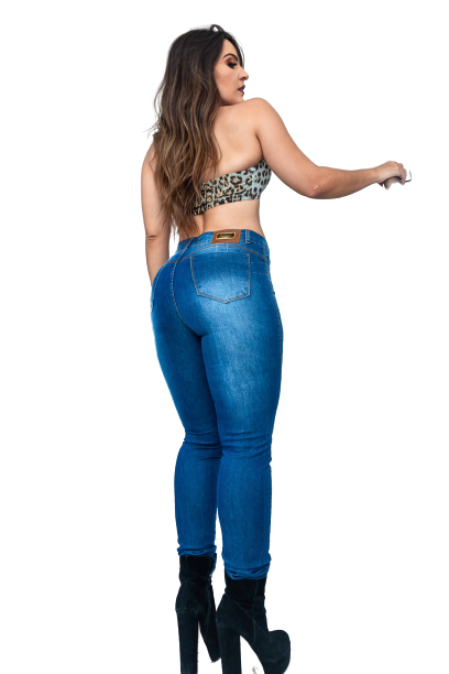 Calça Jeans Elastano Feminina Sk Alta