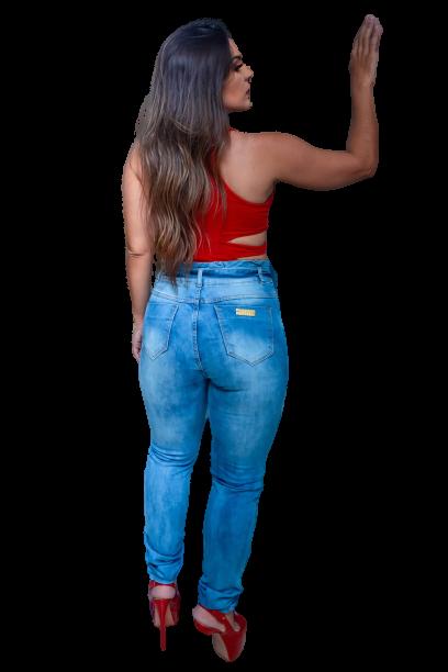 Calça Jeans Elastano Feminina Sk. Alta