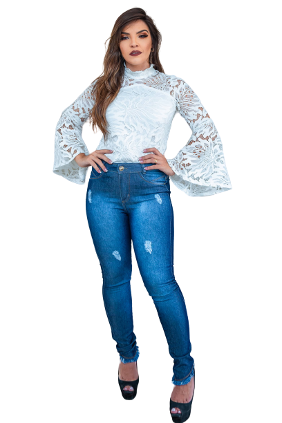 Calça Jeans Elastano Feminina Sup Sk