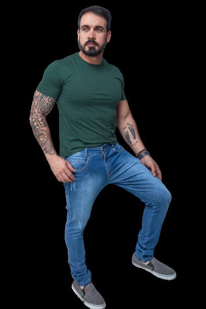 Calça Jeans Maculina Slim Fit