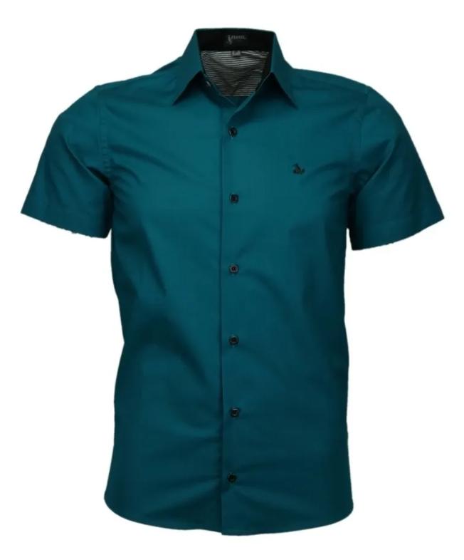 Camisa Fox Slim 100% Algodão