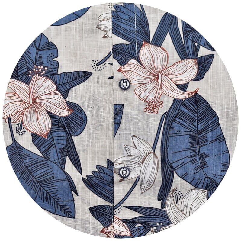 Camisa Infantil Floral Manga Curta