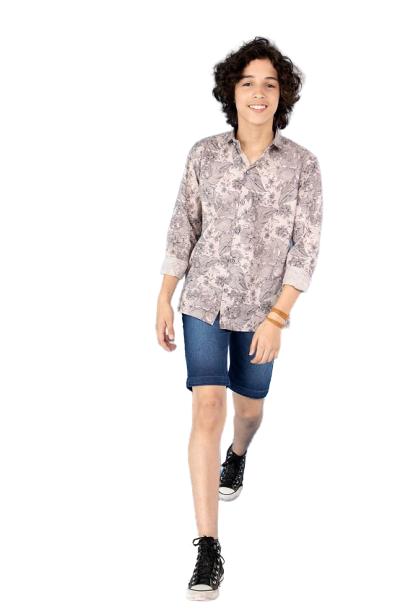 Camisa Infantil Manga Longa Estampada