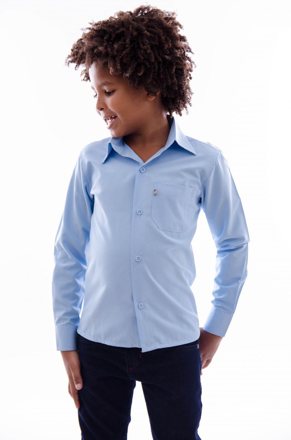 Camisa Infantil Manga Longa Tradicional