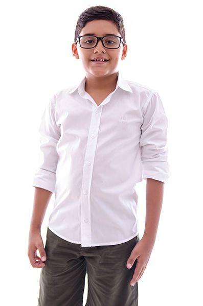 Camisa Infantil Masculina Branca