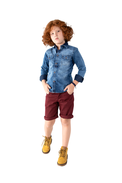 Camisa Infantil Masculina Sky
