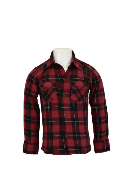 Camisa Infantil Masculina Xadrez Flanela