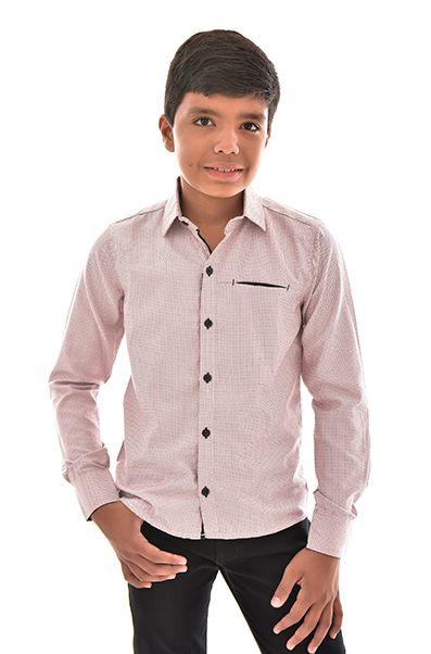 Camisa Infanto Juvenil Masculina Manga Longa