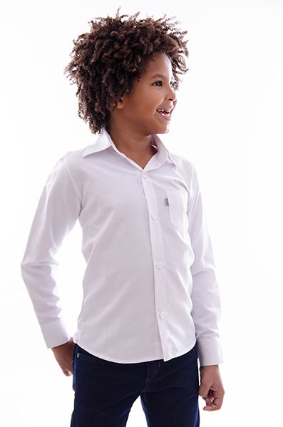 Camisa Manga Longa Tradicional Branca