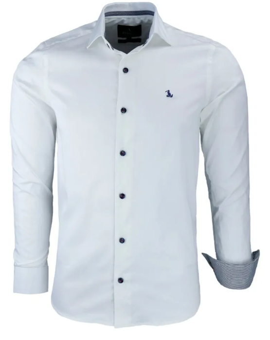 Camisa Social Masculina Messina - Com Elastano e Tecido Acetinado
