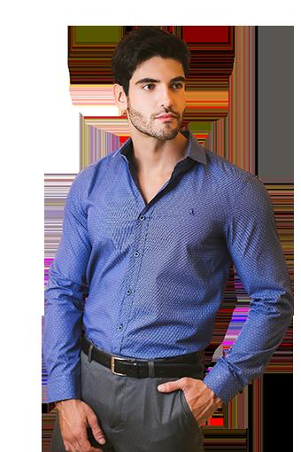 Camisa Social Masculina Palma