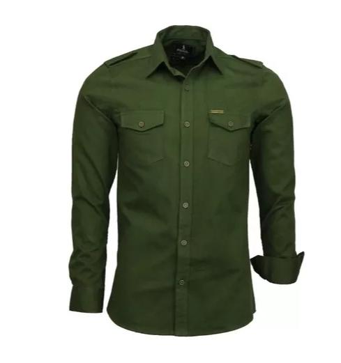 Camisa Social Paris Estilo Militar