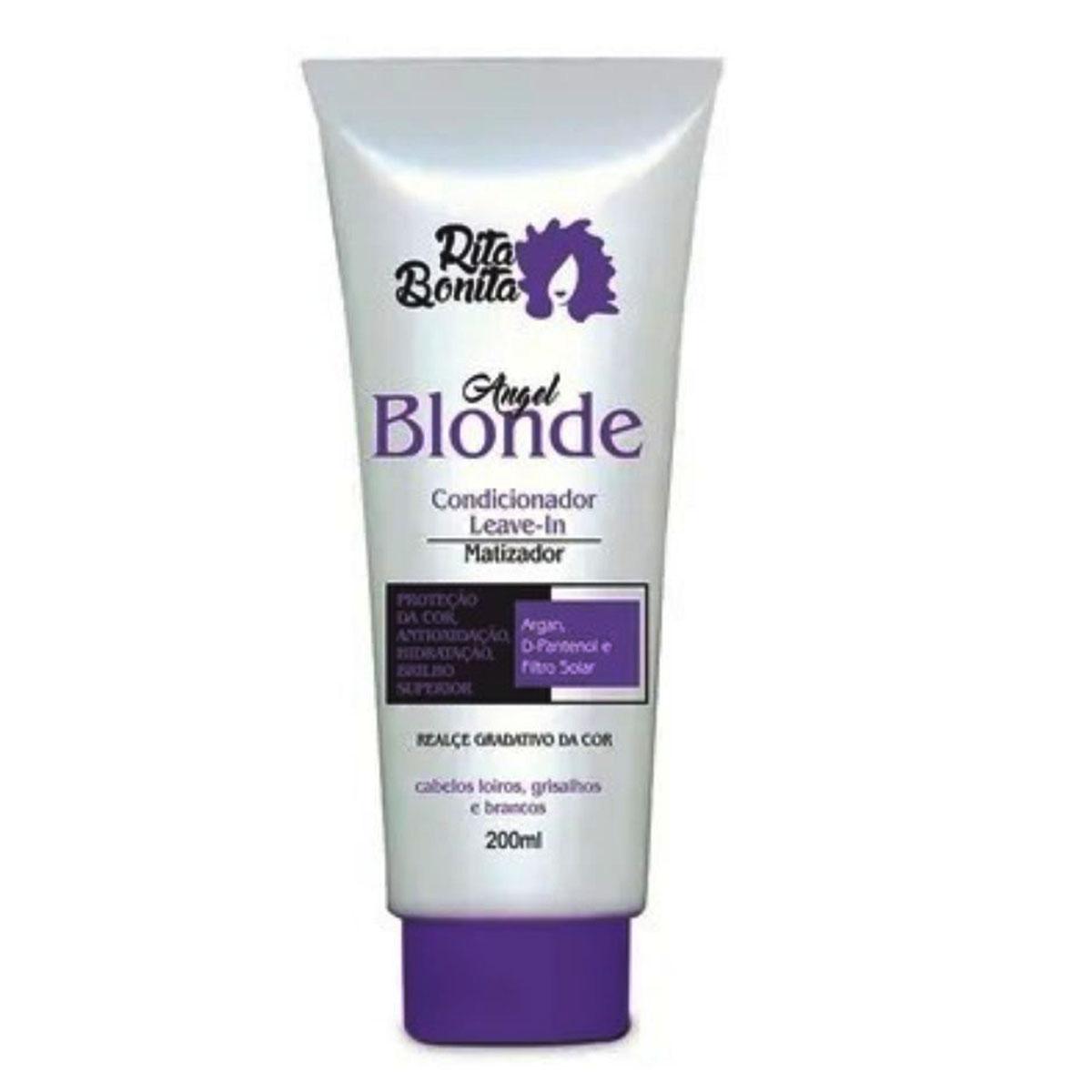 Angel Blonde - Condicionardor/Leave-in Rita Bonita 200ml - Com Proteção Termica e Filtro Solar