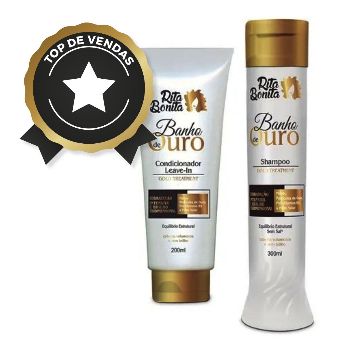 Banho de Ouro - Kit Rita Bonita  Duo Home Care (2 Produtos)