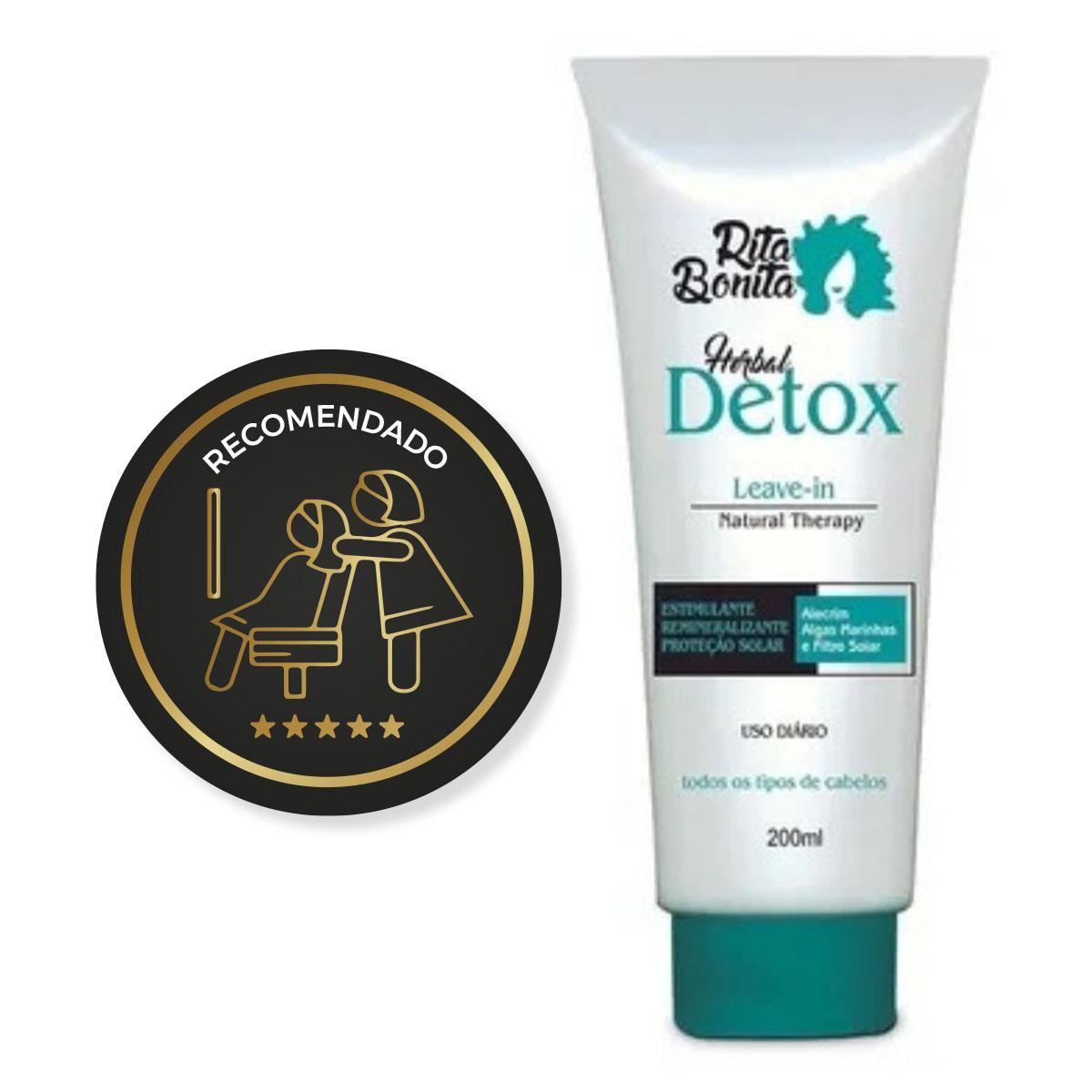 Herbal Detox - Leave-in Rita Bonita 200ml - Com Proteção Termica e Filtro Solar