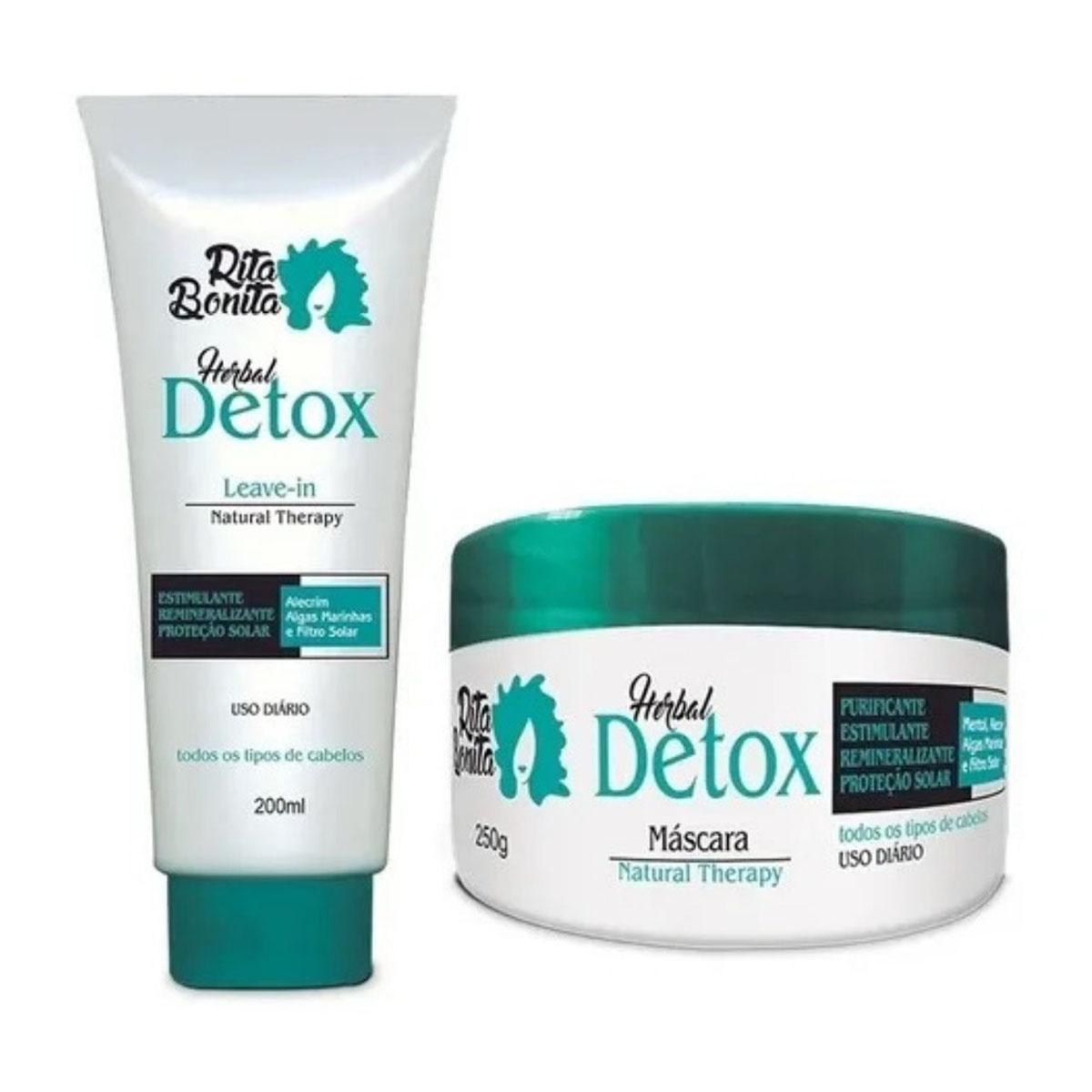 Kit Rita Bonita Herbal Detox Duo Hidratação Home Care (2 Produtos)