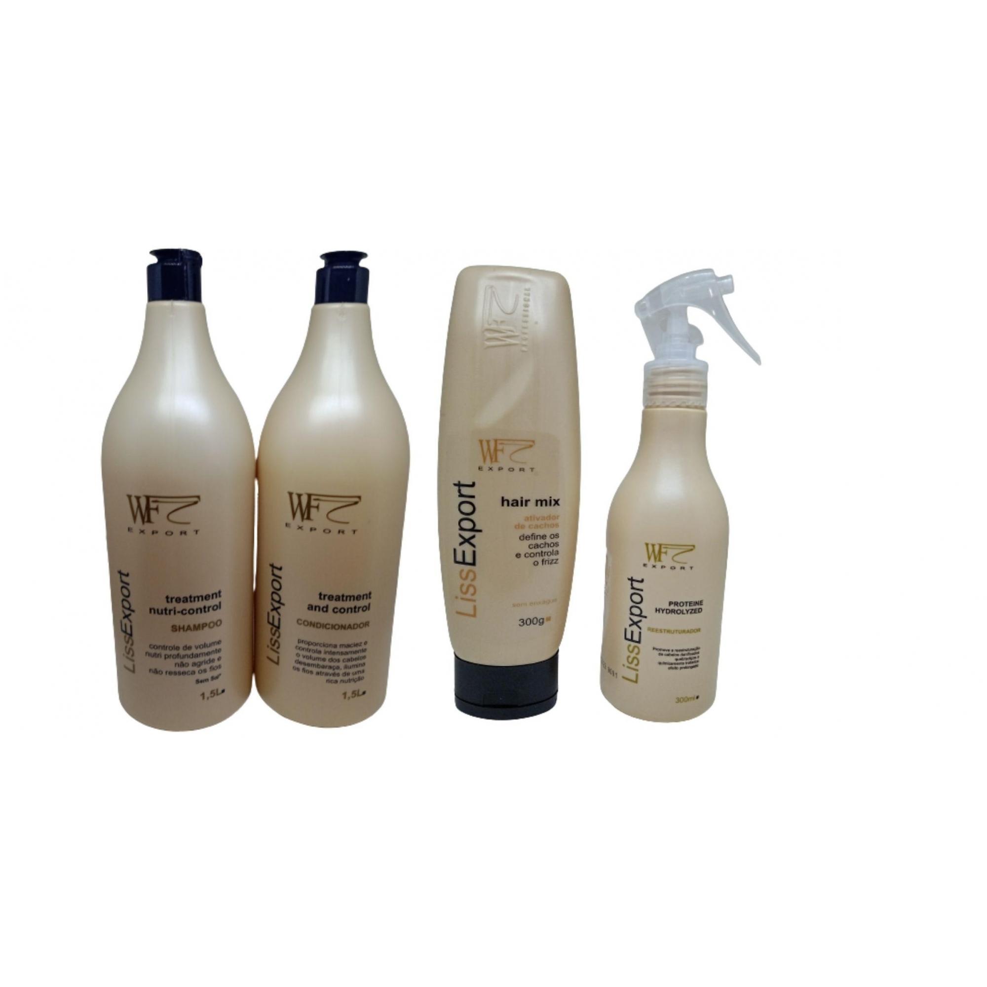 Kit Wf Cosméticos Liss Export Professional (4 Produtos)
