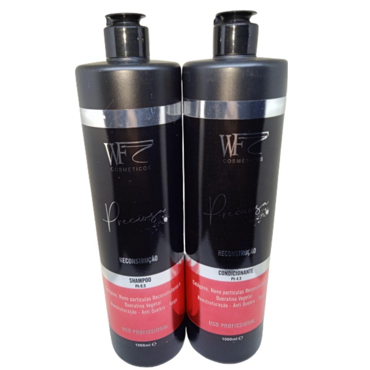 Kit Wf Cosméticos Preciosa  RECONTRUÇÃO Duo Professional (2 Produtos)