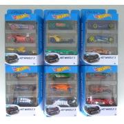 Hot Wheels - Pacote com 3 Carros Escala 1:64 SORTIDO