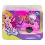 Polly Pocket - Polly com Veículo Banho de Cachorrinhos