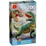 Quebra Cabeça - Batalha dos Dinossauros 200 peças