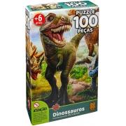 Quebra Cabeça - Dinossauros 100 peças
