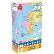 Quebra Cabeça - Horários do Mundo 200 peças