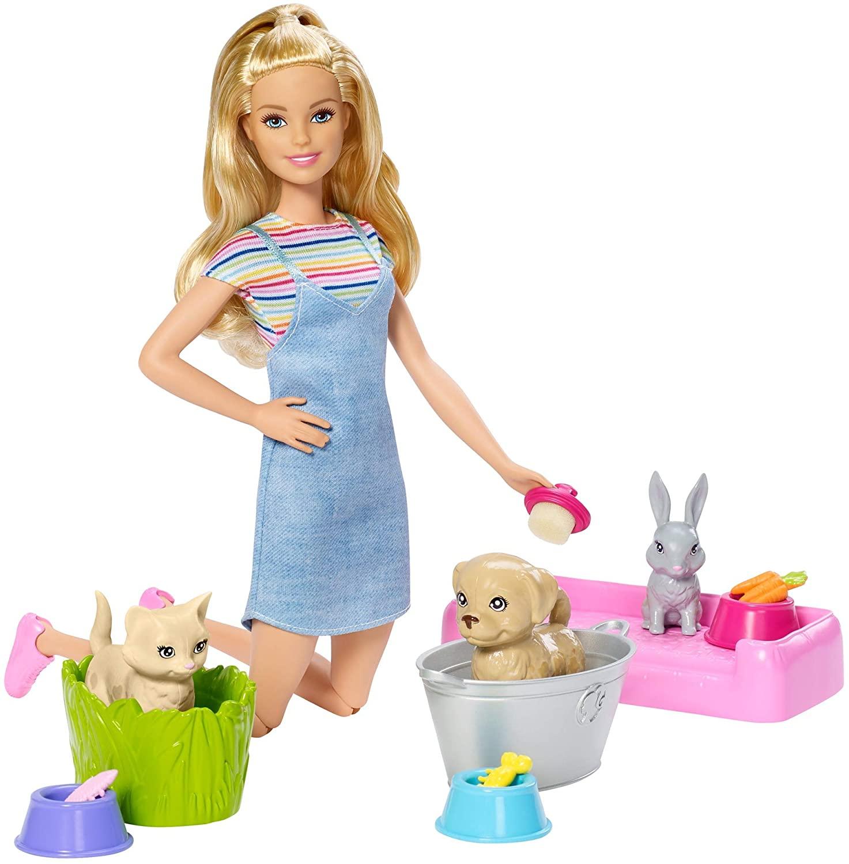 Barbie -  Banho de Cachorrinhos