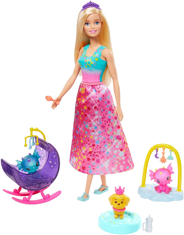 Barbie Dreamtopia - Fantasia - Dia De Pets - Babá de Dragões