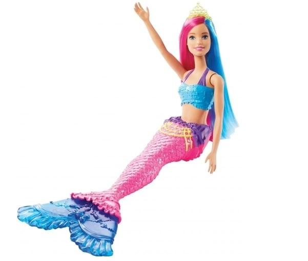 Barbie Dreamtopia - Fantasia Sereia Cabelo Rosa e Azul