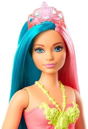 Barbie Dreamtopia - Fantasia Sereia Cabelo Rosa e Azul Turquesa