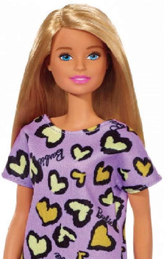Barbie Fashion and Beauty - Loira com Vestido Roxo Corações