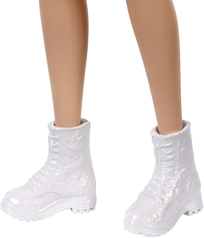 Barbie - Fashionista - 160 Morena com Vestido Laranja