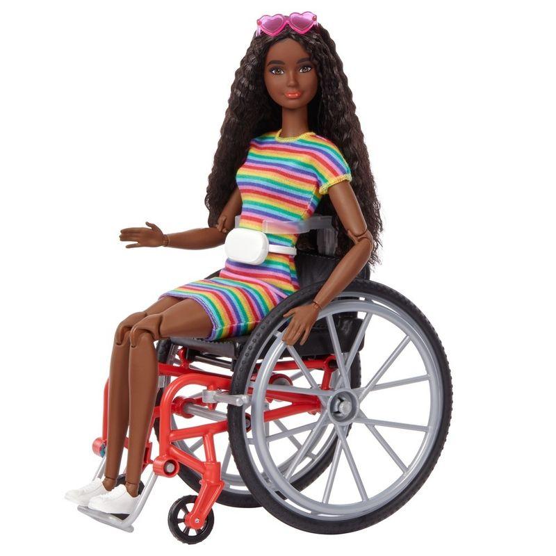 Barbie Fashionista - Cadeira de Rodas Cabelos Cacheados