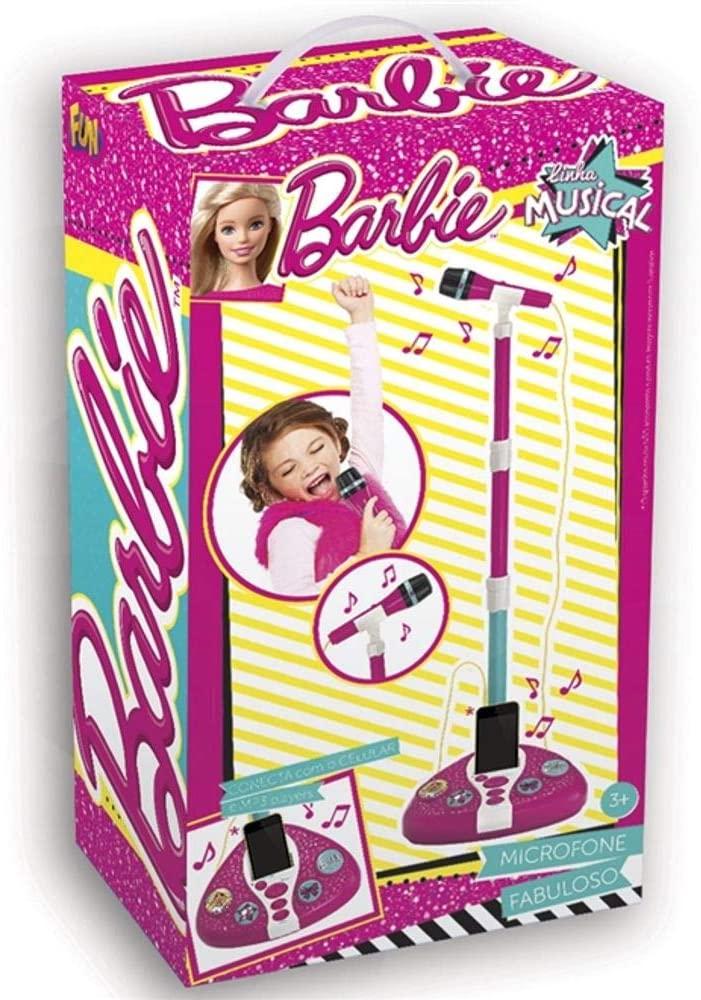 Barbie - Microfone Fabuloso com Função MP3 Player