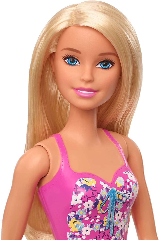 Barbie Praia - Loira Maiô Rosa Floral